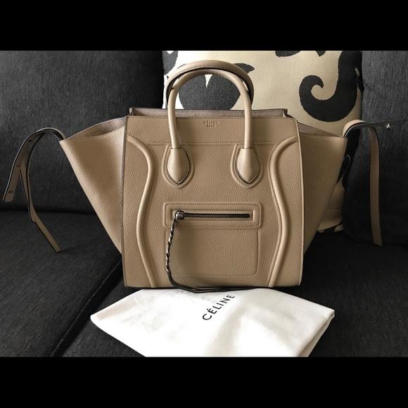 e4fc03d0ce2 Celine Bags   Cline Phantom Medium Cream Taupe Leather Bag   Poshmark